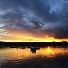 Rain Clouds Looming over Sunset by Of Land and Ocean - Samantha Goode