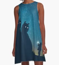 The Gift (blue) A-Line Dress