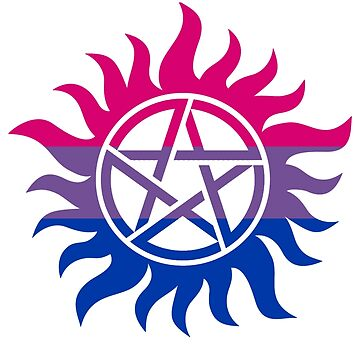 Supernatural Anti-Possession Bisexual Flag by geekoutgalaxy