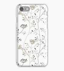 Cow parsnip on white backdrop iPhone Case/Skin