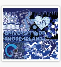 University of Rhode Island Collage Sticker