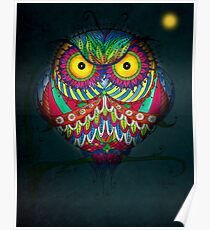 """""""Angry Owl by Night"""" Poster"""