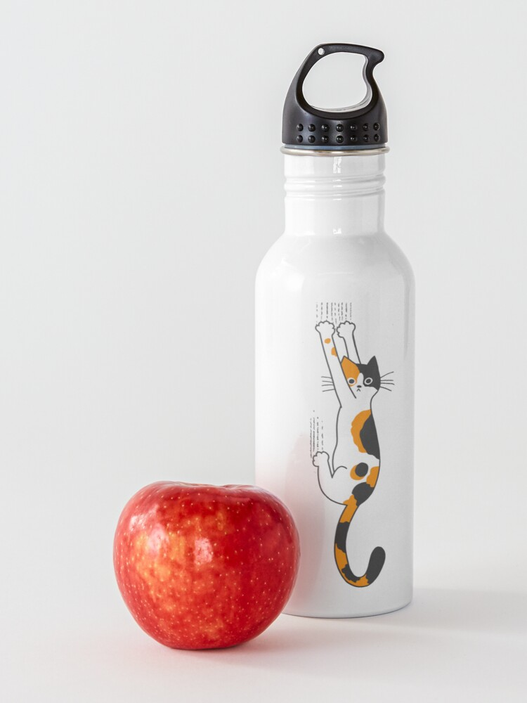 Alternate view of Calico Cat Hanging On  Water Bottle