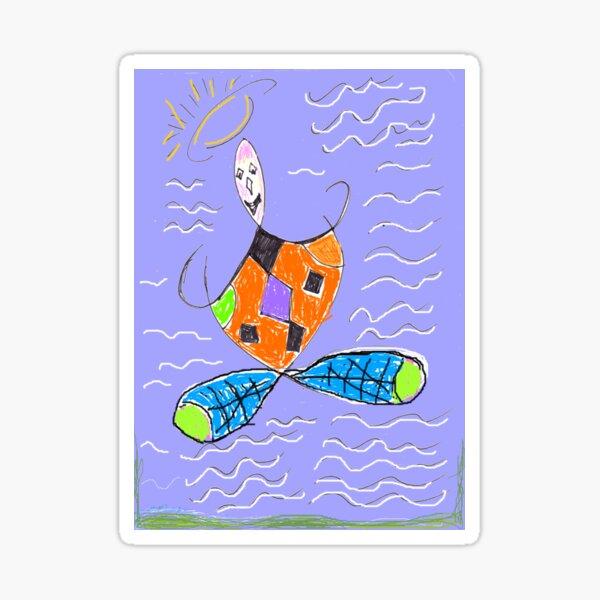 Herbert The Flying Harlequinn Sticker