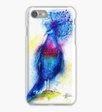 """Blue Crowned Pigeon"" iPhone Case/Skin"