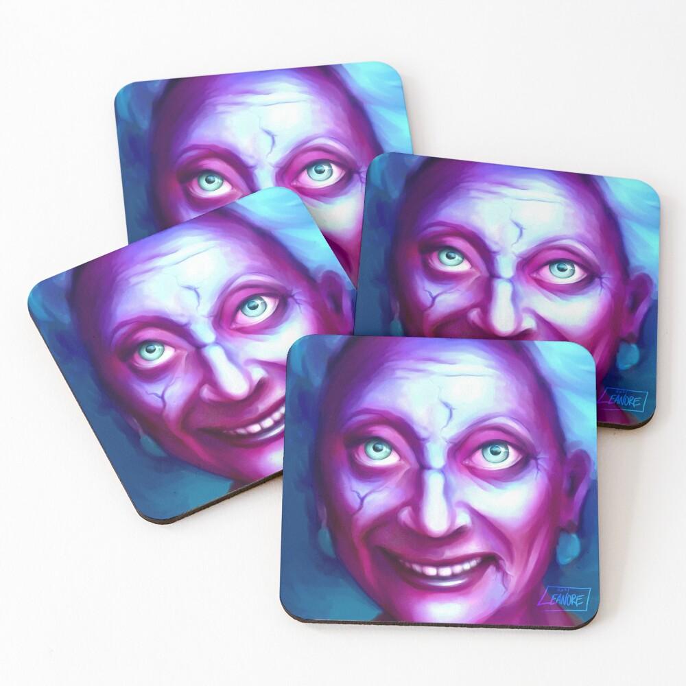 Friendly Ghost Gramma Coasters (Set of 4)