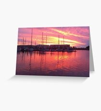 Sunset over North Haven Marina, South Australia Greeting Card