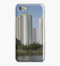 apartment buildings over the water iPhone Case/Skin