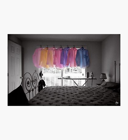 Ironing Adds Color to a Room Photographic Print