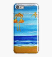 itsy bitsy teeny weenie orange polka dot bikini iPhone Case/Skin