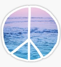 Waves and Peace Sticker