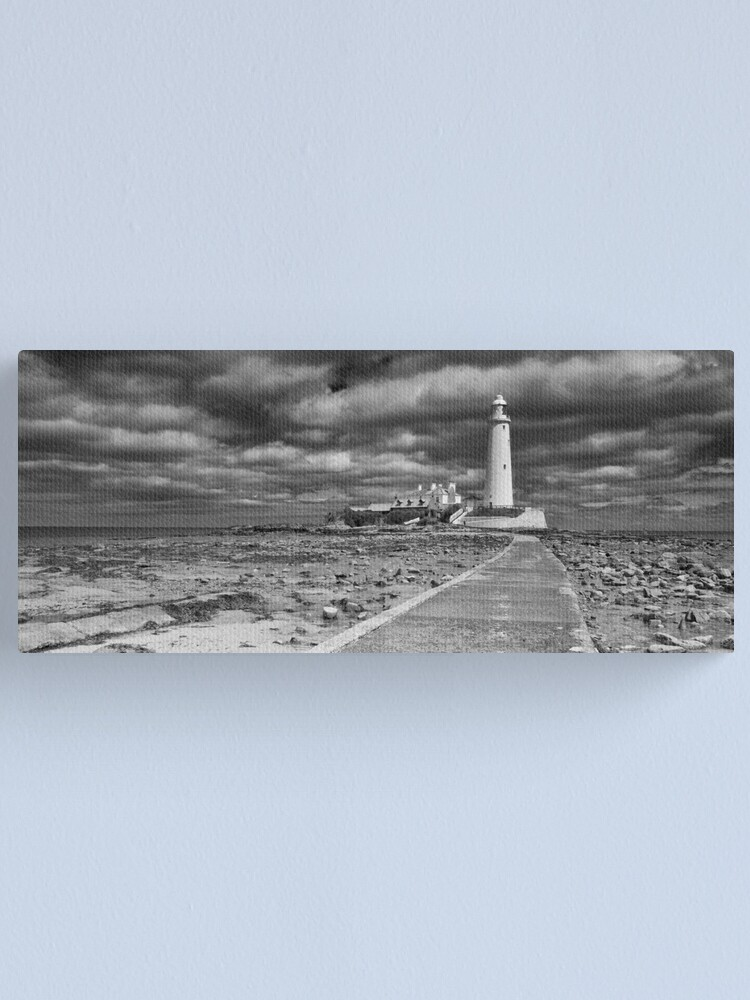 Alternate view of St Mary's Lighthouse Landscape Canvas Print