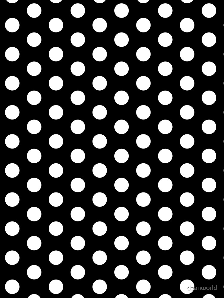 Polka Dot Dress - White Repeating Pattern Dots by deanworld