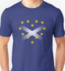 EU Heart with Scotland Saltire Flag T-Shirt