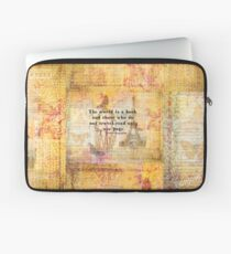 St. Augustine travel quote the world is a book and those who do not travel Laptop Sleeve