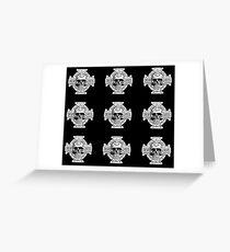 Warhammer 40k Chaos Marines Skull no. 4 Greeting Card