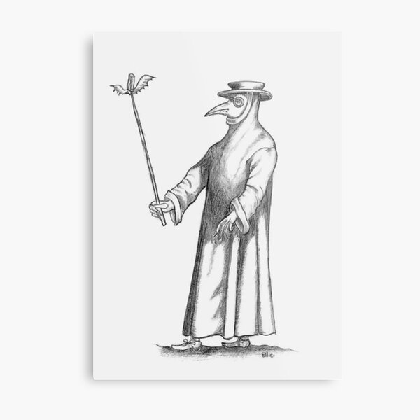 Plague Doctor (for the morbidly inclined) Metal Print