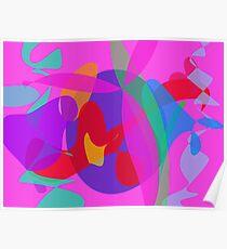 Unique Psychedelic Pink Design Poster