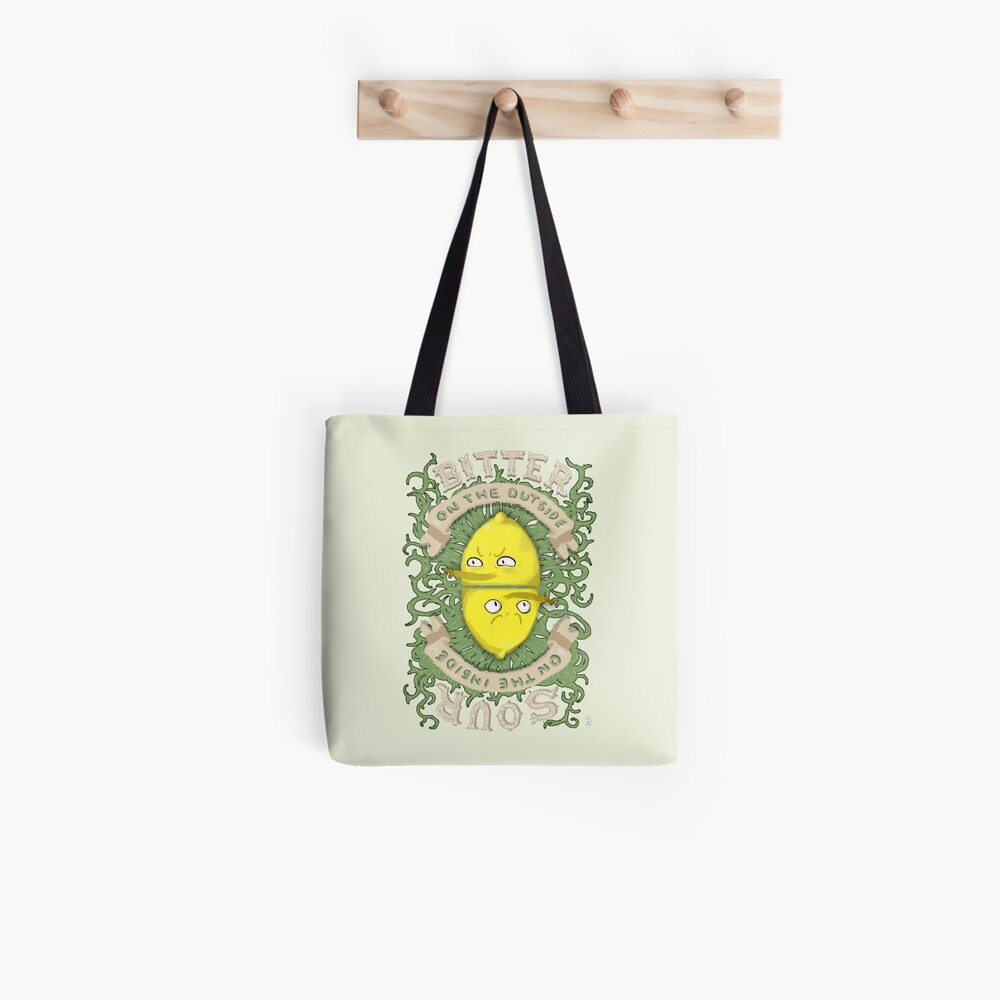 Bitter on the Outside, Sour on the Inside Tote Bag