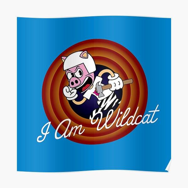 I Am Wildcat 1930's Cartoon Character Poster