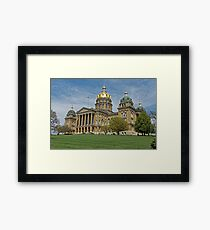 Iowa State Capitol Building Angled Framed Print