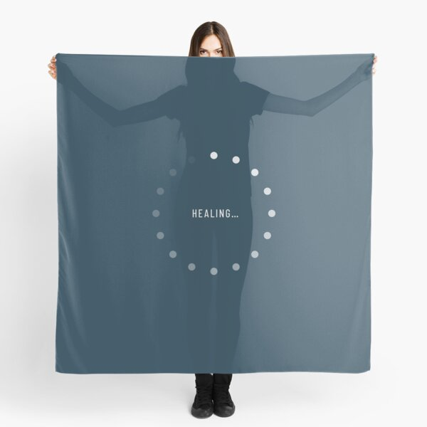 Healing–Loading Icon (Navy Edition) Scarf