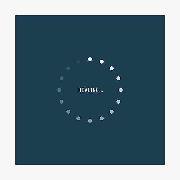 Healing–Loading Icon (Navy Edition) Photographic Print