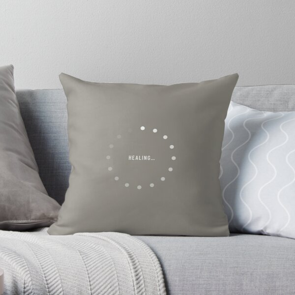 Healing–Loading Icon (Stone Edition) Throw Pillow