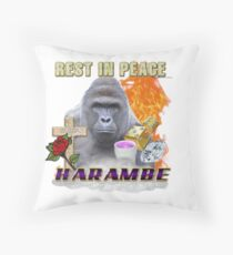 I FEEL LIKE HARAMBE  Throw Pillow