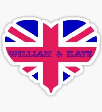 William & Kate Crown T shirt Sticker