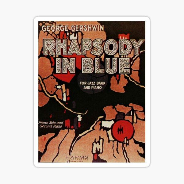 Rhapsody in Blue by George Gershwin, Original Sheet Music, 1924  Sticker