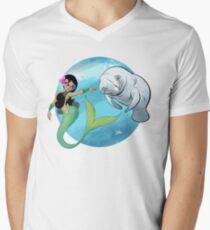 The Mermaid and the Manatee! Men's V-Neck T-Shirt