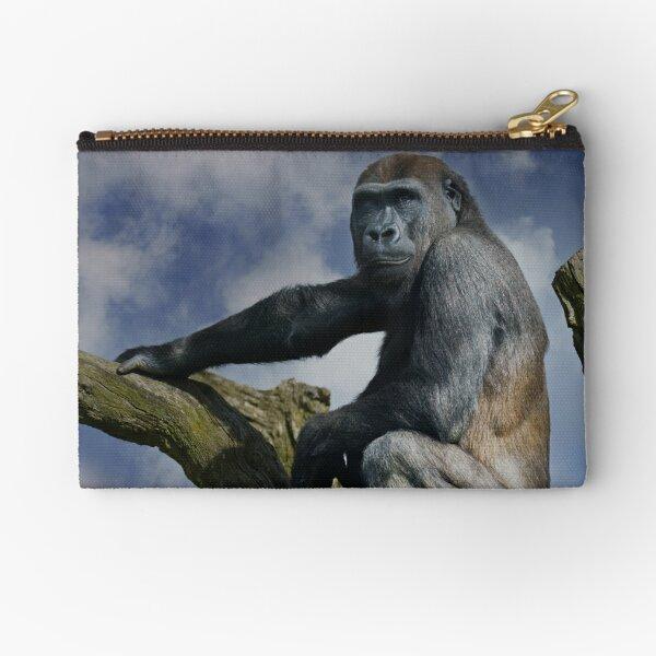 Gorilla On A Tree Zipper Pouch