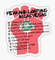 Fear and Loathing in Las Vegas checklist Sticker