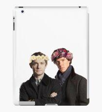BBC Sherlock- Sherlock and John Flower Crowns  iPad Case/Skin