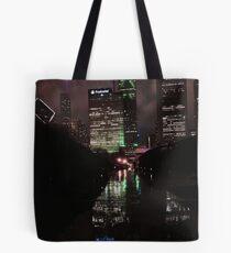 The Windy, Rainy, Wet City Tote Bag