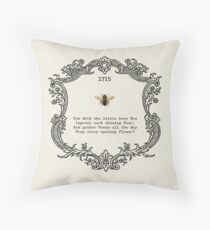 How doth the little bee Throw Pillow