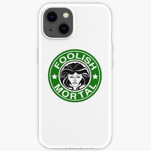 Foolish Mortal Coffee T-Shirt iPhone Soft Case