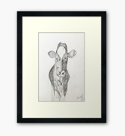Jen's Gentle COW Framed Print