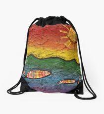 Rainbow Fish Drawstring Bag