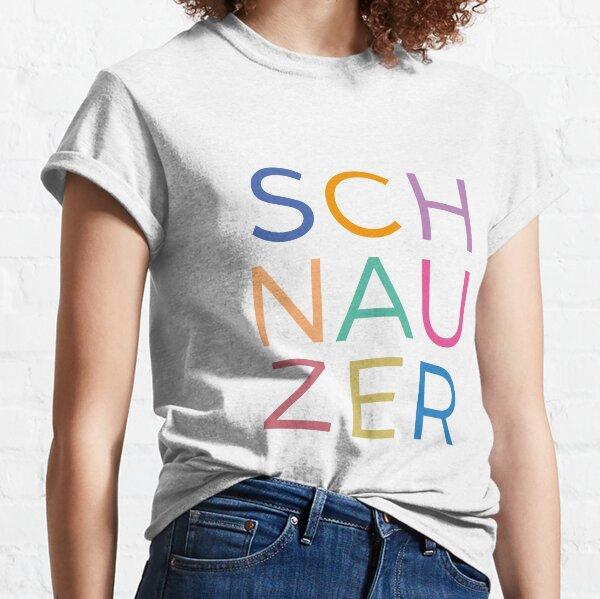 Multicoloured graphic schnauzer letters Classic T-Shirt