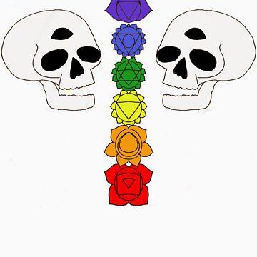 skull chakras by anainwonderland