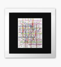 Linear Thoughts Framed Print