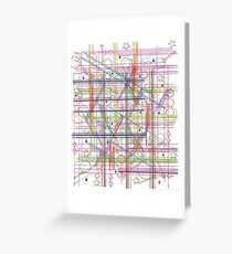 Linear Thoughts Greeting Card