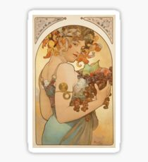 'Fruit' by Alphonse Mucha (Reproduction) Sticker