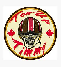 Canadian Cafe Racer Ton-Up Timmy Photographic Print