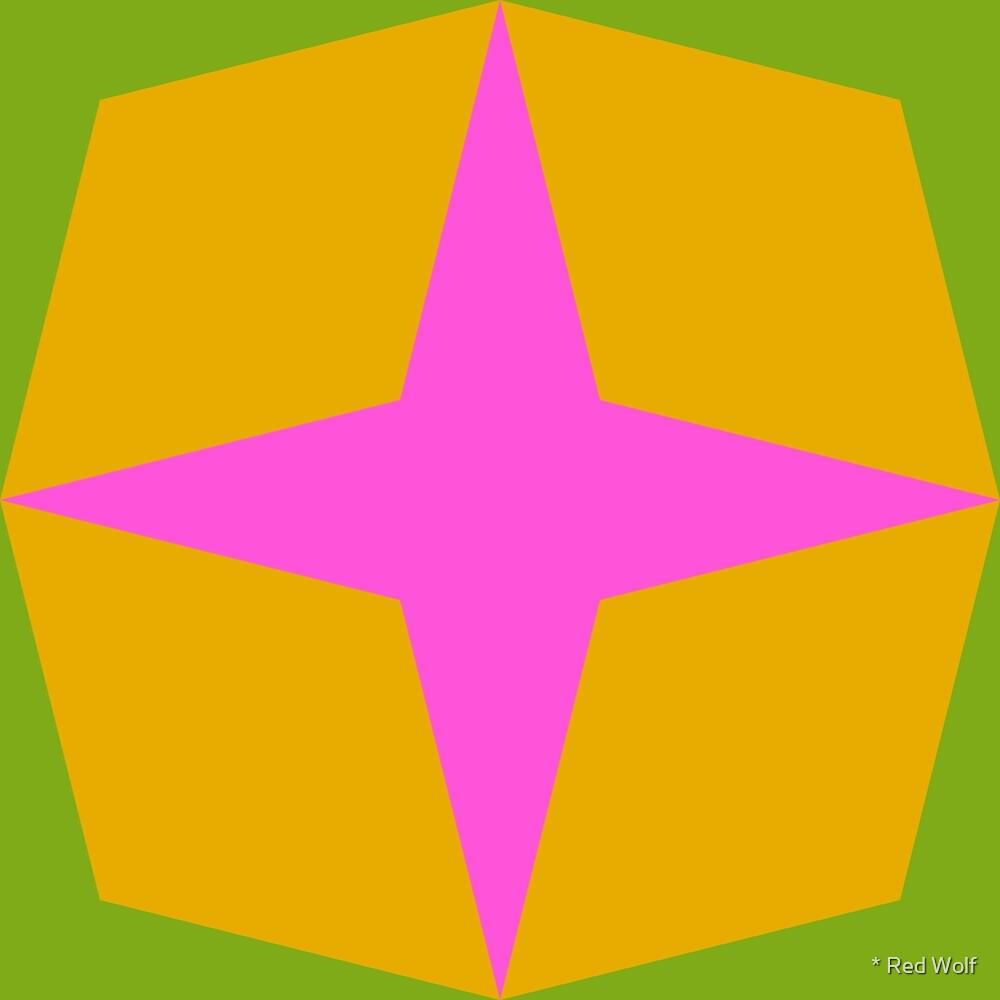 Geometric Pattern: Diamond Star: Mysterioso by * Red Wolf