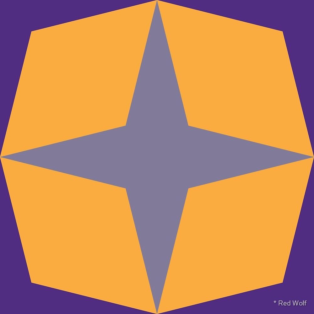 Geometric Pattern: Diamond Star: Streetlight by * Red Wolf