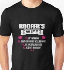 3db24419 Roofer - Roofer's Wife Slim Fit T-Shirt
