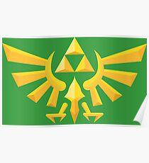 (Geometric) Zelda Triforce Poster